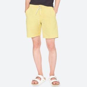 Uniqlo swim shorts trunks men yellow size M